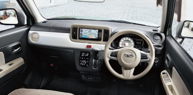 視界が良好な運転席。